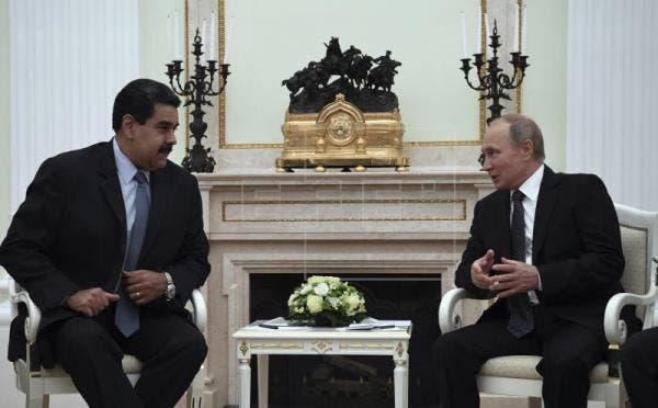 Los presidentes de Rusia, Vladímir Putin, y de Venezuela, Nicolás Maduro.