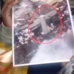 El jefe de Bomberos muestra gráfico que explica origen de explosión en Villas Agrícolas.