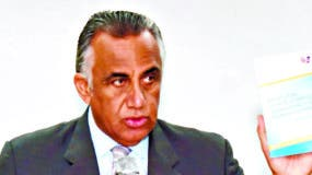 Luisín Mejía  durante su discurso luego de la toma de posesión en el comité Olímpico Dominicano.