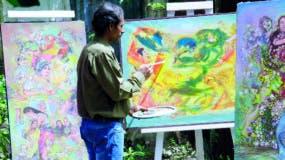 En el arte no hay barreras, afirma Constantino Matos, pues el que pinta también puede hacer una buena escultura.