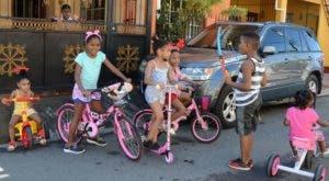 Las bicicletas y velocípedos fueron los favoritos de los niños.