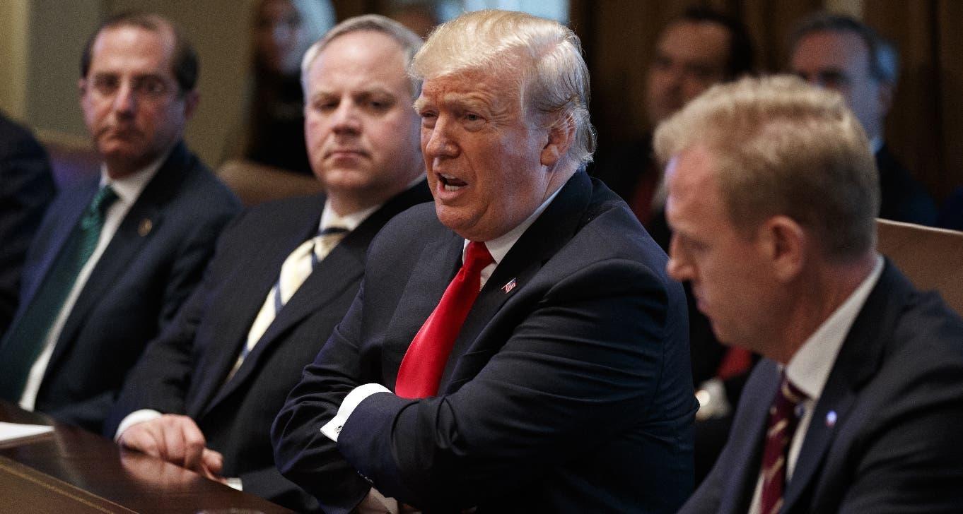 Donald Trump habló  con los  demócratas en la Casa Blanca.