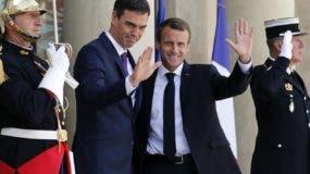 Los presidentes Emmanuel Macron y Pedro Sánchez impulsan el cambio en  Venezuela.