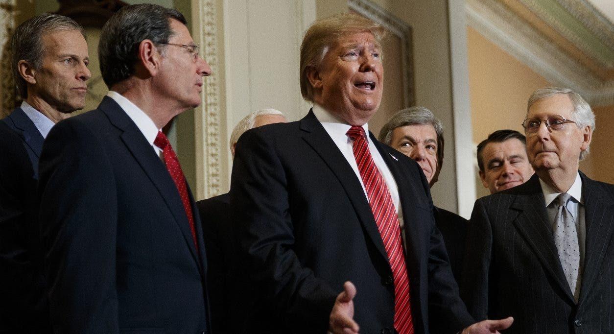 El presidente Donald Trump se reunió ayer con los líderes demócratas, pero no hubo acuerdo.