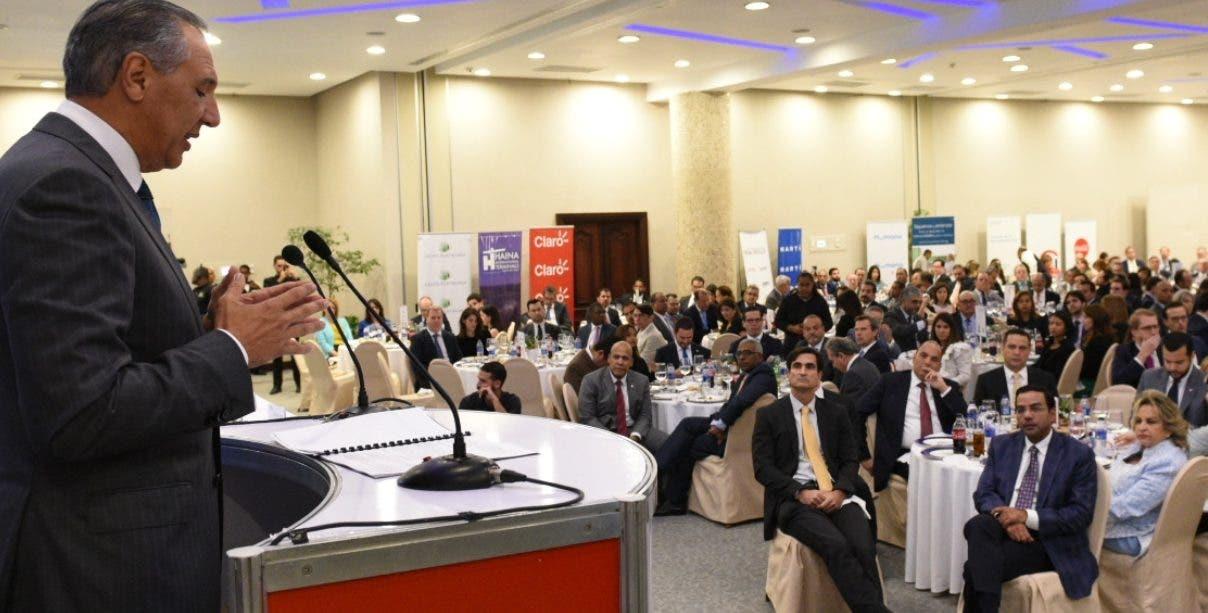 José Ramón Peralta expuso las metas y logros del Gobierno para este año.   fuente externa