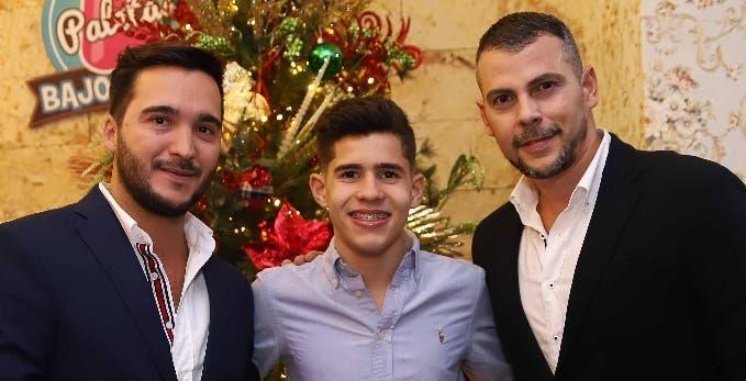 Roberto Rosas, Hensy Rodríguez y Aldo Cammara.