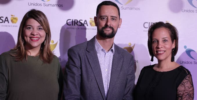 Wendelyn Issa, Jorge Santos y Grace Rodríguez.