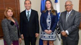 Gladys Sofía Azcona, Winston Santos,  Evelyn Koury Irizarry  y   Rafael Pérez Modesto.