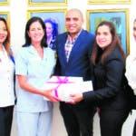 Martha Rosario, Julia Guerra, Parménides Rustand, Sobeida Rodríguez y Joelle Coulange.