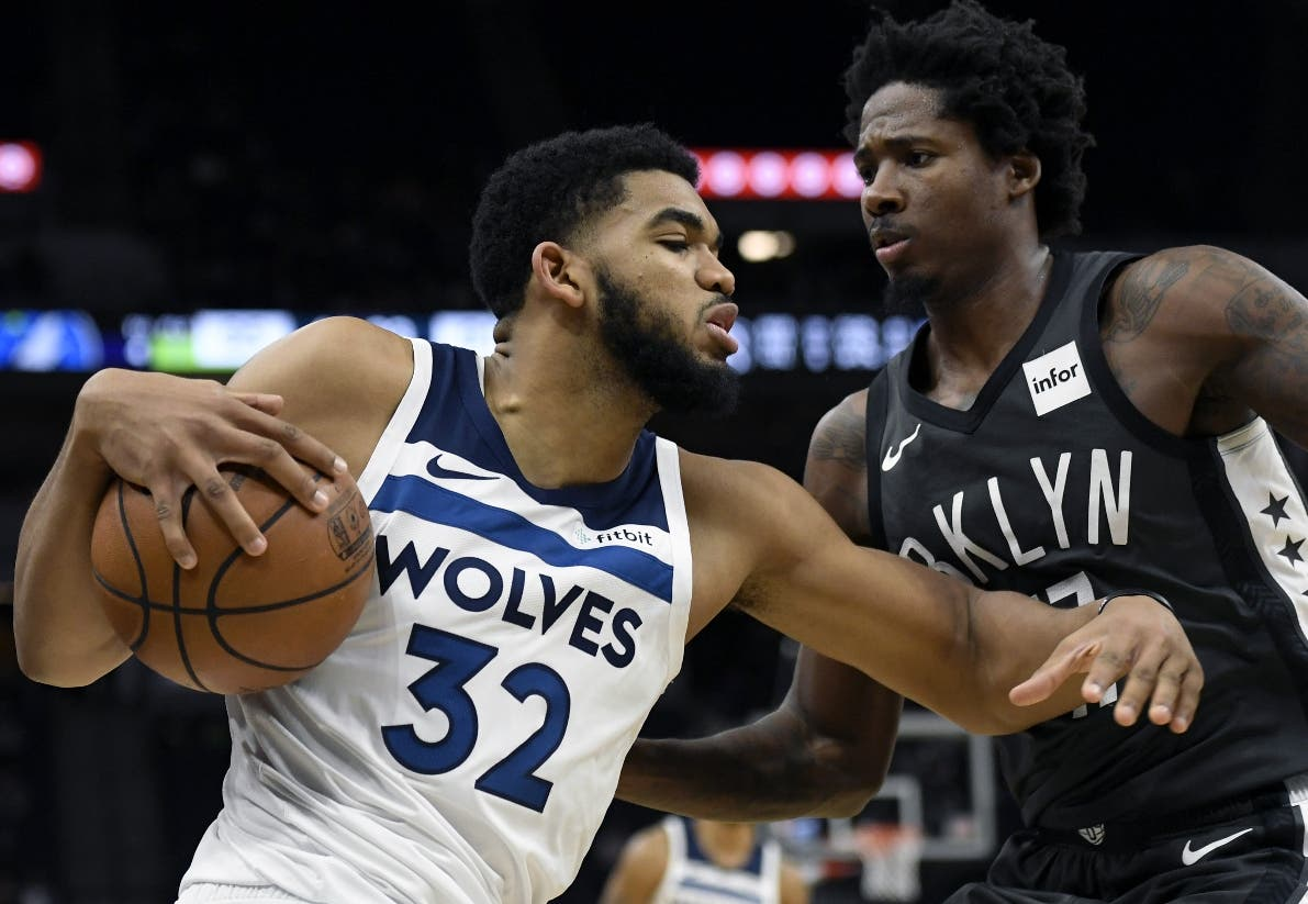 Karl-Anthony Towns está teniendo otro año grandioso para los  Timberwolves .  AP