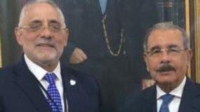 Danilo Medina y Vitelio Mejia.