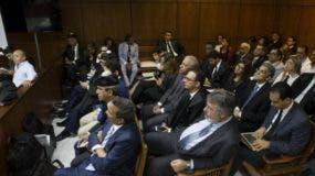 Los imputados en la sala de audiencia de la Suprema Corte de Justicia.  ARCHIVO