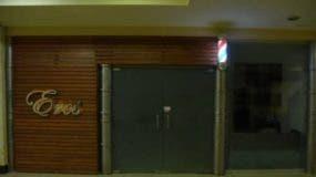 Barbería donde autoridades realizaron allanamiento.