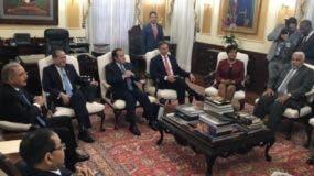 Miembros del Consejo de la Magistura, encabezados por el presidente Danilo Medina.  archivo