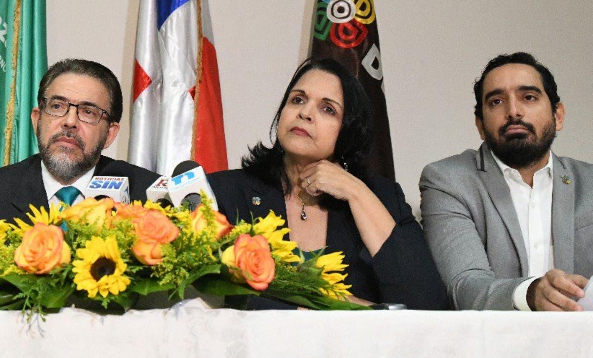 Minou Tavárez  Mirabal, Guillermo Moreno y   dirigentes que conforman ambos partidos.