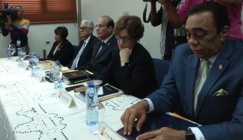 Miembros titulares de la Junta Central Electoral.  archivo