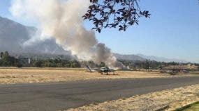 La avioneta se precipitó en San Rafael del Yuma, provincia La Altagracia.