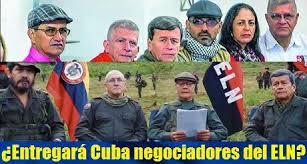 El presidente colombiano Iván Duque presionó el viernes a Cuba para que arreste a 10 negociadores del Ejército de Liberación Nacional luego de que su gobierno le atribuyó al grupo guerrillero la autoría del ataque con un coche bomba contra una academia de policía que provocó la muerte de 21 personas y heridas a docenas más.