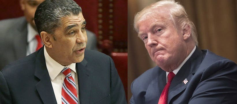Adriano Espaillat y Donald Trump.