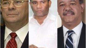 Hipólito Mejía, Quirino Ernesto Paulino Castillo y Leonel Fernández.