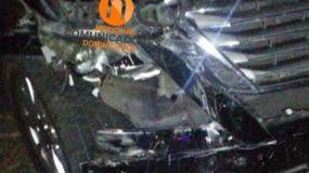 El vehículo del Torito después del accidente.