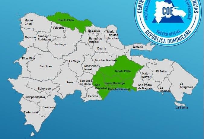Coe declara alerta verde para cuatro provincias por vaguada