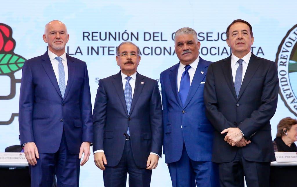 Danilo Medina habló al participar en la Reunión del Consejo Mundial de la Internacional Socialista.