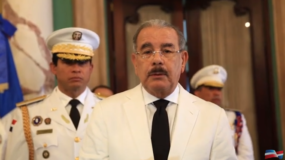 El presidente Danilo Medina habló en el Palacio Nacional, tras recibir las cartas credenciales de varios embajadores.