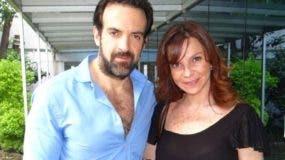El mexicano Pablo Perroni y la extimbiriche Mariana Garza.