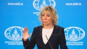 Portavoz del Ministerio de Asuntos Exteriores de Rusia, María Zajárova.