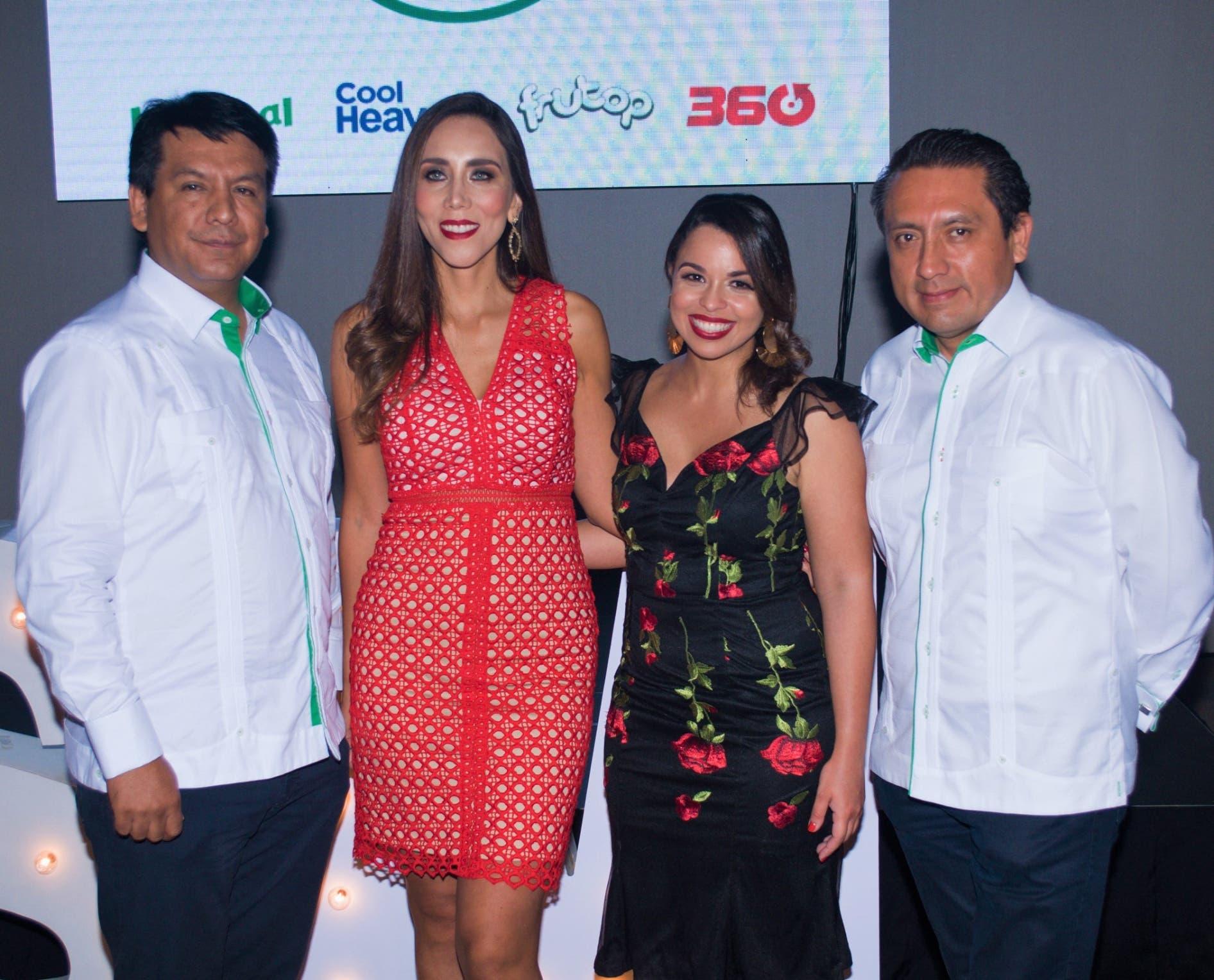 Arturo Marroquín, Lorena Gutiérrez, Gilsé Echavarría y Mario Medina.