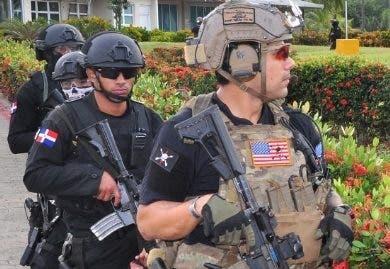 Soldados de ambos países durante los ejercicios.