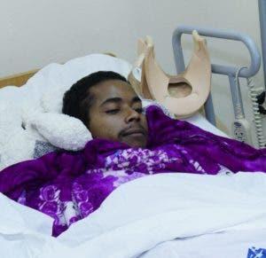 Fernando Montero Terrero, a pesar de estar postrado en cama, aun visualiza la esperanza de rehabilitarse pronto. Elieser tapia
