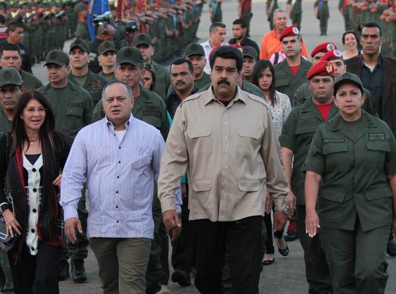 El presidente Nicolás Maduro tiene un amplio y sólido apoyo de la cúpula militar de Venezuela.