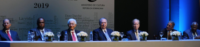 José Alcántara, Manuel Núñez, Manuel Matos Moquete, Eduardo Selman, José Luis Corripio Estrada, Erasmo (Niní) Cáffaro Durán y Jorge Tenas Reyes. NICOLÁS MONEGRO