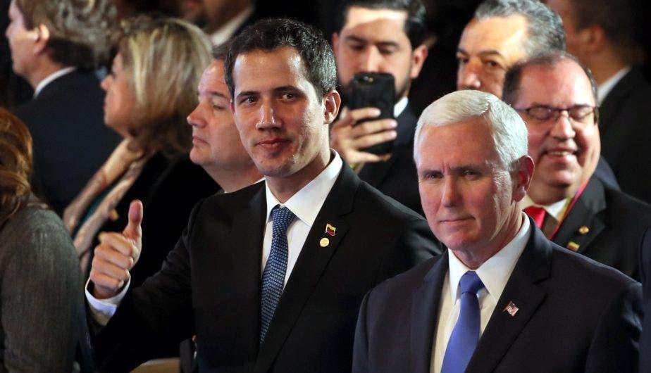 """Pence a Guaidó: """"Estamos con usted al 100 %»"""