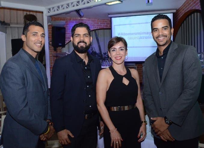 Teddy Díaz, Anderson Sánchez, Karla Alonso y Bolívar Sánchez.
