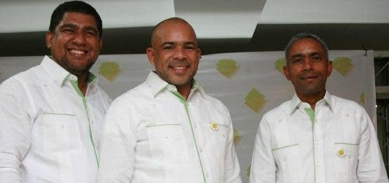 Genaro Vargas, Odelis Espinal y Osvaldo Felipe.