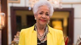 El Ministerio de Cultura  la reconoció como  Maestra de la Cultura Gastronómica Dominicana.