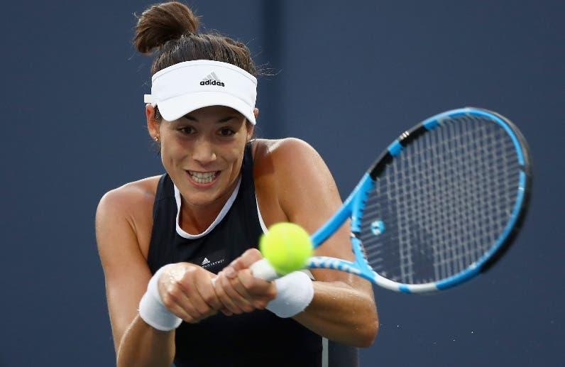 Garbiñe Muguruza dominó en el torneo de Dubai. aP