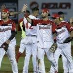 Los venezolanos festejan luego de la victoria en la Serie.