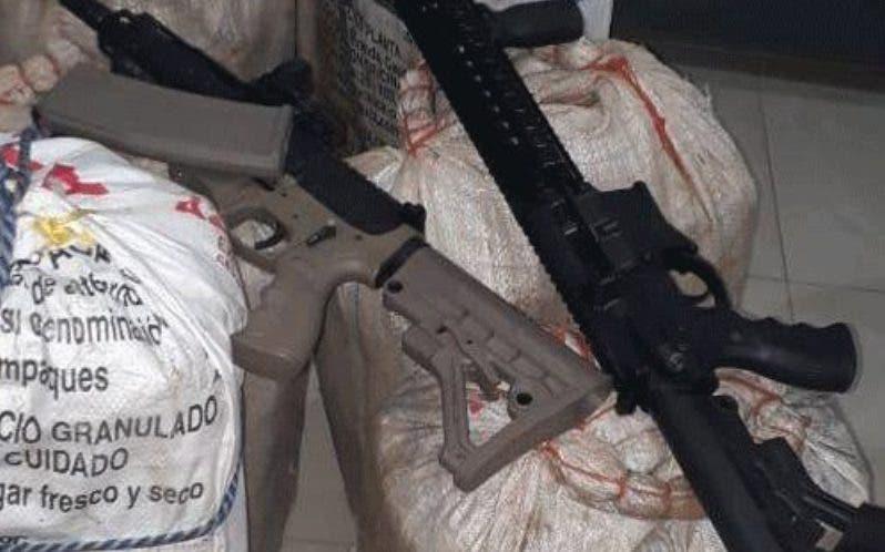 Droga y armas presentadas por la Policía en diciembre.