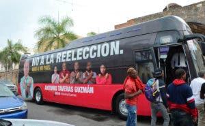 Autobús de no a la reelección