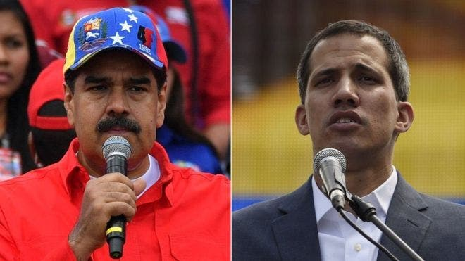 Nicolás Maduro y Juan Guaidó se disputan el título de presidente legítimo de Venezuela.