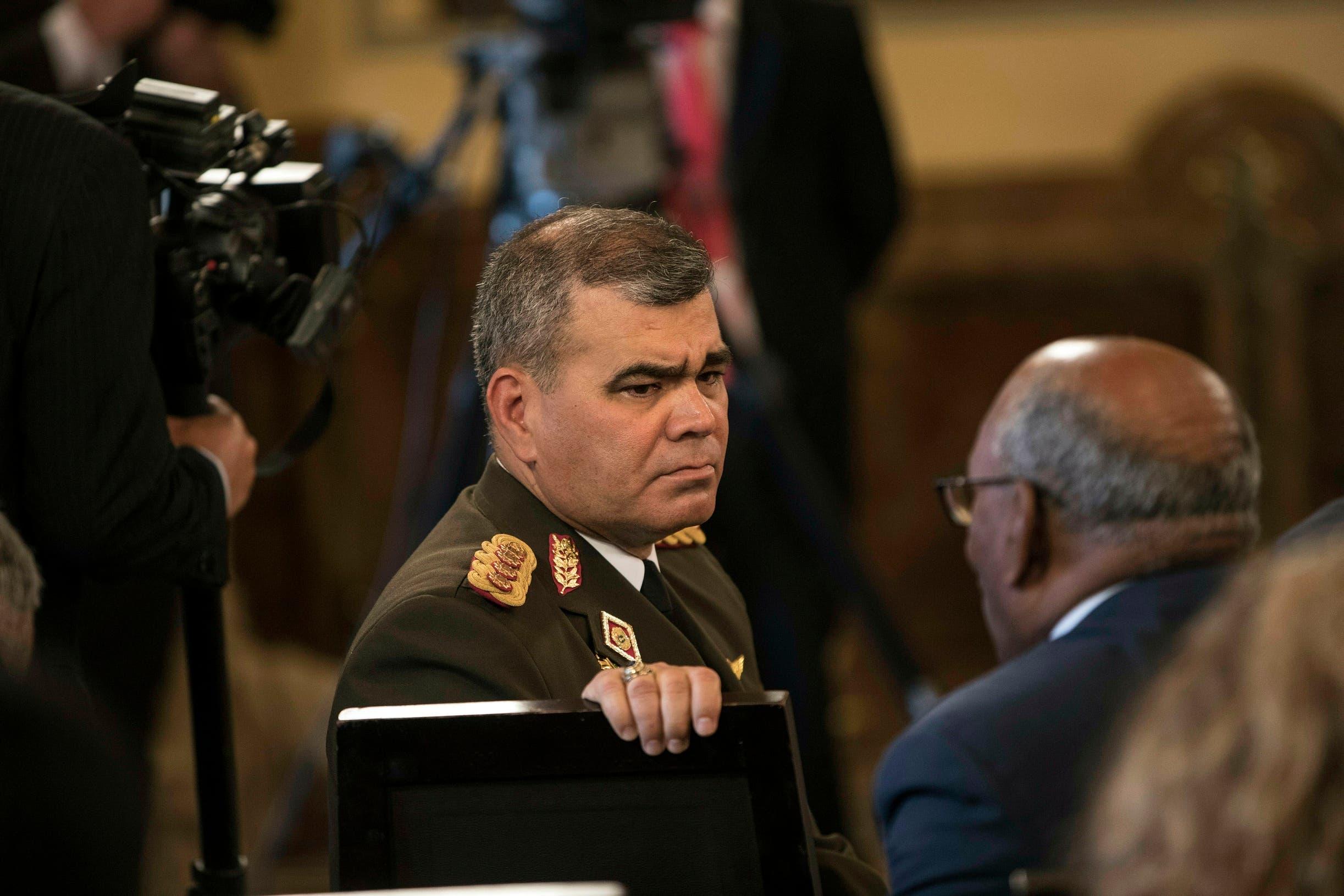 """El ministro de Defensa de Venezuela, Vladimir Padrino López,  ha denunciado que las acciones de Guaidó se enmarcan en un """"golpe de Estado"""" financiado por Estados Unidos."""