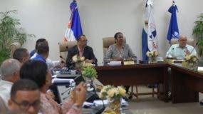 Los ejecutivos de   la ADP se reunieron este martes