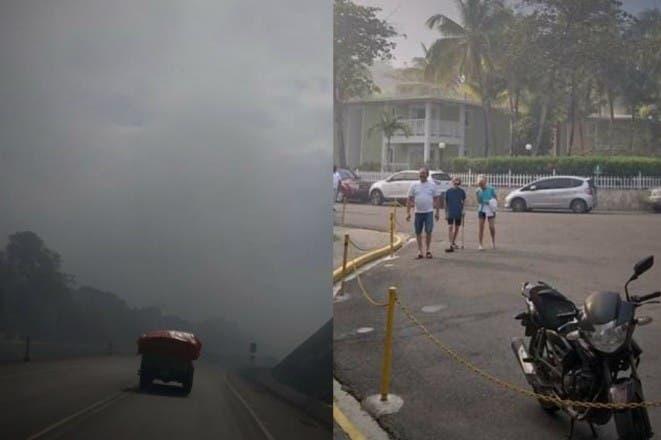 Humareda del vertedero municipal de Puerto Plata causa caos en el tránsito y actividades turísticas