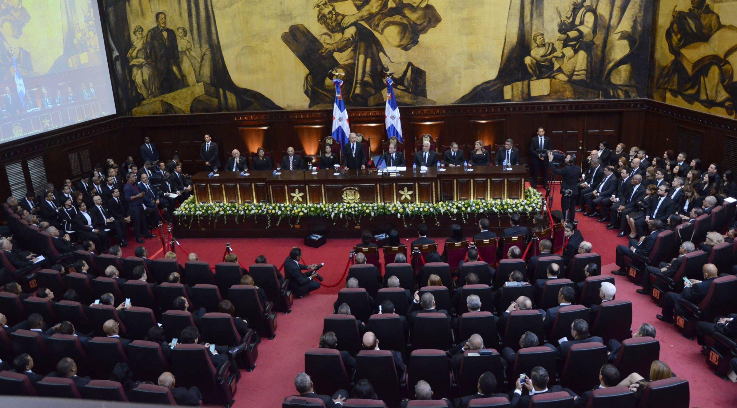 12. El presidente Danilo Medina rindió cuentas ante la Asamblea Nacional. Foto: José de León.
