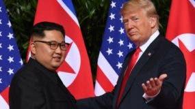 Kim Jong Un y Donald Trump.