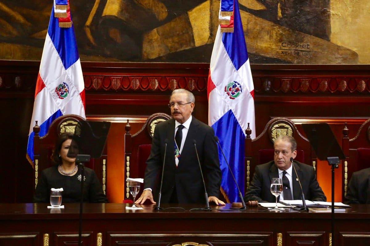 11. Danilo Medina durante su discurso de rendición de cuentas.
